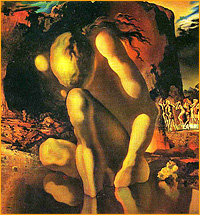 Metamorphosis of Narcissus Salvador Dali (1937), фрагмент