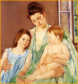 Mary Cassatt - Young Mother and Two Children (1905 г.)